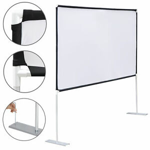 100 Diagonal 16 9 Projection Projector Screen Hd Home Theater With Stand