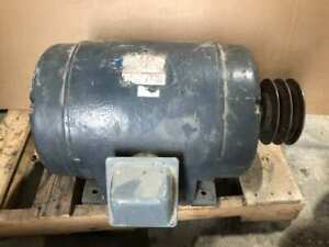 Wagner 256 11486 09 10hp Electric Motor 1750rpm 208 220 440v 3 Phase Dp