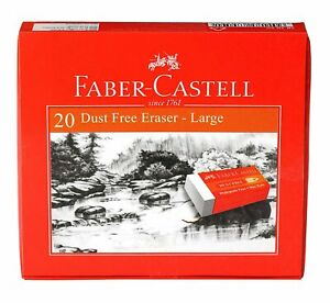 Faber castell Dust free Erasers Large Pack Of 20 white