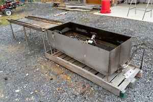 Custom Stainless Parts Dipping Tank With Drain Off Table Pump Heating Pad