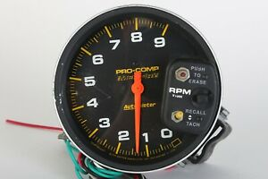 Autometer Pro Comp 6809 Monster Tachometer Memory Recall 5 P N 6809
