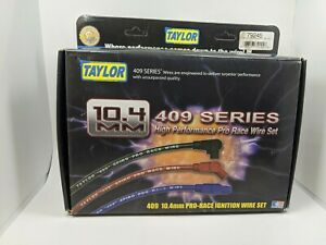 Taylor Spark Plug Wire Set 79245 409 Pro Race 10 4mm Red Universal 6 Cylinder