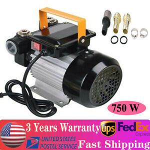 750w 16gpm Commercial Electric Oil Pump Self Priming Transfer Fuel 110v 60l min