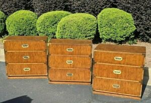 3 Dixie Campaigner Campaign Bachelor S Chest Set Of Three
