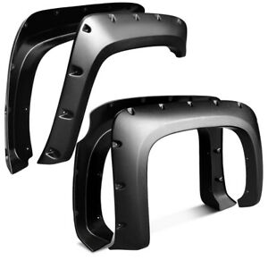 Textured Fender Flares For 07 13 Chevy Silverado 1500 69 Short Bed Pocket Style