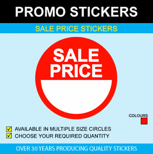 Sale Price Stickers Available In 6 Sizes
