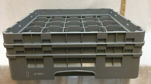 Dishwashing Crate Carrier For Hi Ball Glasses For 25 Glass Cups Restaurant Ware