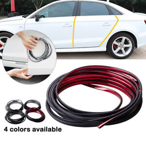 Red Rubber Seal Guard Strip U Shape Car Door Edge Side Protector Anti Scratch