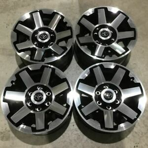 Set Of 4 2014 2019 Toyota 4runner Fj Cruiser 75154 Oem Wheels Black Machined