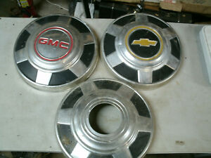 Chevy Gmc Truck 3 4 Ton 4x4 Dog Dish Poverty Hubcaps Chrome Set 3 1973 1987 12