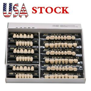 Usa 84pcs Denture 23 A2 Acrylic Resin Teeth Dental Tooth Upper Lower Shade A2