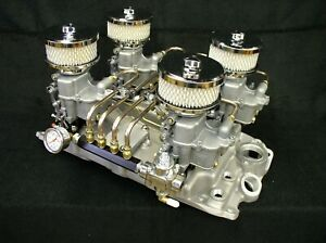 Offenhauser Offy Chevy 4x2 Pacesetter 3x2 6x2 Intake Manifold Holley 94 Sbc