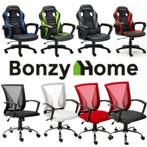 Executive Gaming Chair Computer Office Desk Chair Seat Swivel Adjustable High Us