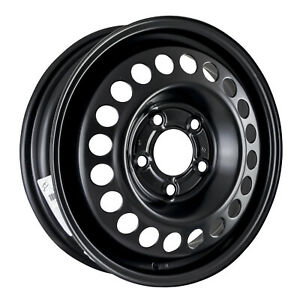 New 16x6 5 Steel Wheel 20 Round Vent Black Full Face Painted