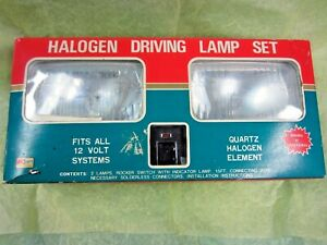 Vintage Halogen Driving Light Set From Kmart New