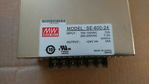 Mean Well Se 600 24 Ac To Dc Power Supply Single Output 24 Volt 25 Amp 600 Watt