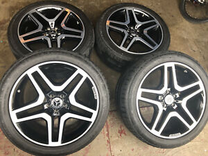 Mercedes Gls550 Gl Amg W Black Accents Oem 21 Wheels Tires And Mb Tpms