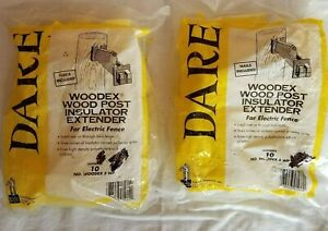 Dare Woodex 5 Wp Wood Post Insulator Extender For Electric Fence 10 Ct Lot Of 2