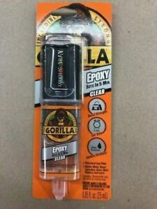 Gorilla Two part Epoxy Glue 0 85 Oz Dries Clear Sets In 5 minutes 4200102