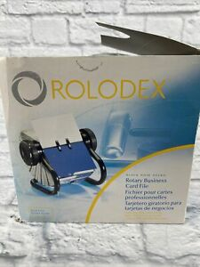 New Rolodex Rotary Business Card File W 300 Sleeves Model 67247