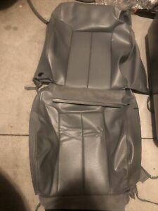 2013 2014 Ford F150 Fx4 Right Left Front Seat Cover Backrest Grey Leather