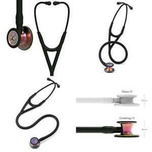 3m Littmann Cardiology Iv Diagnostic Stethoscope Rainbow finish Chest Piece Bl