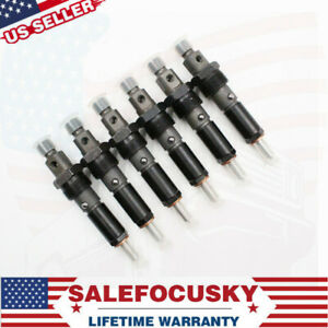 New 6pcs Fuel Injector For 91 93 12v Dodge Cummins 5 9l 12v Pump W int Oe M Usa
