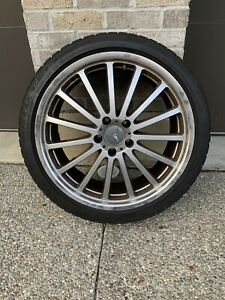 Mandrus Aftermarket Rims For Mercedes 19 X 8 5 Blizzak Tires 255 35r19