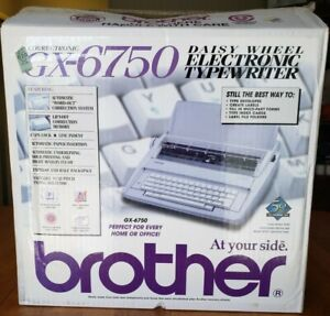 Brother Gx6750 Typewriter New Open Original Box Packaging Manual Papers Rare
