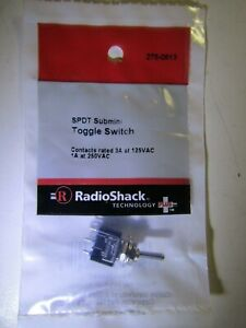 Radio Shack 275 0613 Spdt Sub Mini Toggle Switch Niop
