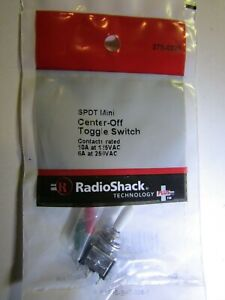 Radio Shack 275 0325 Spdt Center Off Mini Toggle Switch Niop