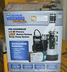 Glentronics Bw4000 Basement Watchdog 1 2 Hp Primary And Back Up Sump Pump System