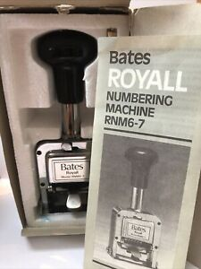 Vintage Bates Royall Numbering Machine Rnm6 7 Automatic Stamping Machine
