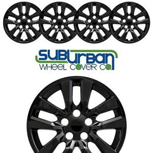 Fits 2013 2018 Nissan Altima S Style 505 16blk 16 Gloss Black Hubcaps Set 4