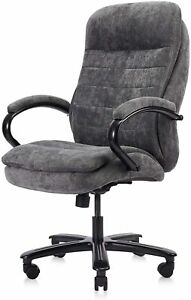Clatina Ergonomic Big Tall Executive Office Chair With Fabric Upholstery 400lb