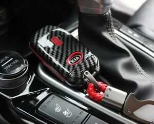 Smart Key Cover Case For 2020 2021 kia K5 Optima carbon Red