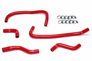Hps Reinforced Red Silicone Heater Hose Kit Coolant For Dodge 13 14 Viper Srt 10