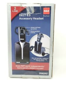 Rca Visys 25065re1 Two line Dect 6 0 Wireless Accessory Headset Intertek