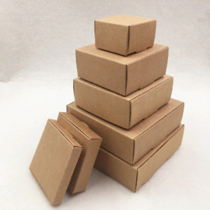 24 Pcs Small Cardboard Packing Gift Box Handmade Decorations Mailing Boxes