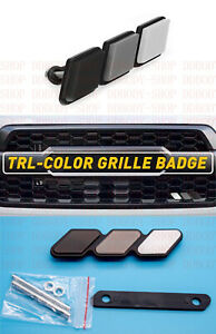 New Tri color 3 Grille Badge Emblem Ea For Toyota Tacoma 4runner Tundra Us Stock