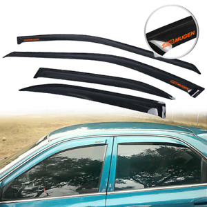 Fits 94 97 Honda Accord Sedan Rain Window Visor Guard Deflector W Orange Mugen
