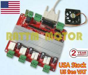 Tb6560 4axis Lpt Cnc Router Mach3 Controller Stepper Motor Driver Board Card us