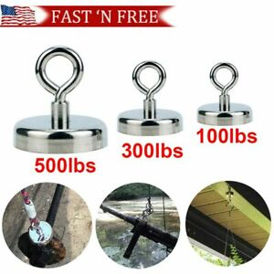 Fishing Magnet Kit Strong Neodymium Pull Force Treasure Hunt 500 300 100 Lbs