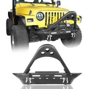 Off Road Stinger Front Bumper W Winch Plate For 1987 2006 Jeep Wrangler Tj Yj