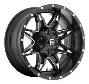 17x9 Gloss Black Milled Wheels Fuel D567 Lethal 6x135 6x5 5 12 Set Of 4