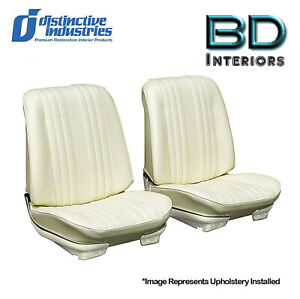 1969 Chevelle Coupe Front Bucket And Rear Seat Upholstery Covers Parchment