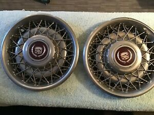 Cadillac 15 Hubcaps Wheel Cover Wire Spoke 80 S
