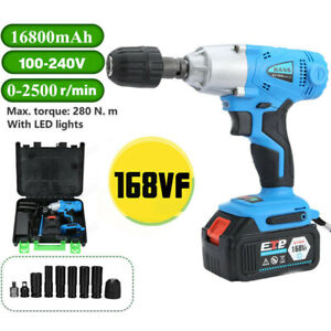 16800mah 1 2 Electric Brushless Cordless Impact Wrench Drill High Power 330nm