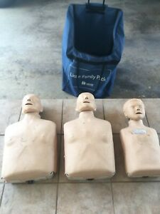 3 Laerdal Cpr Manikins With Family Pack Bag