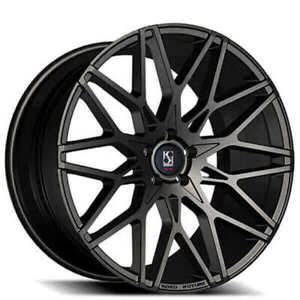 4 20 Staggered Koko Kuture Wheels Funen Black Rims b42